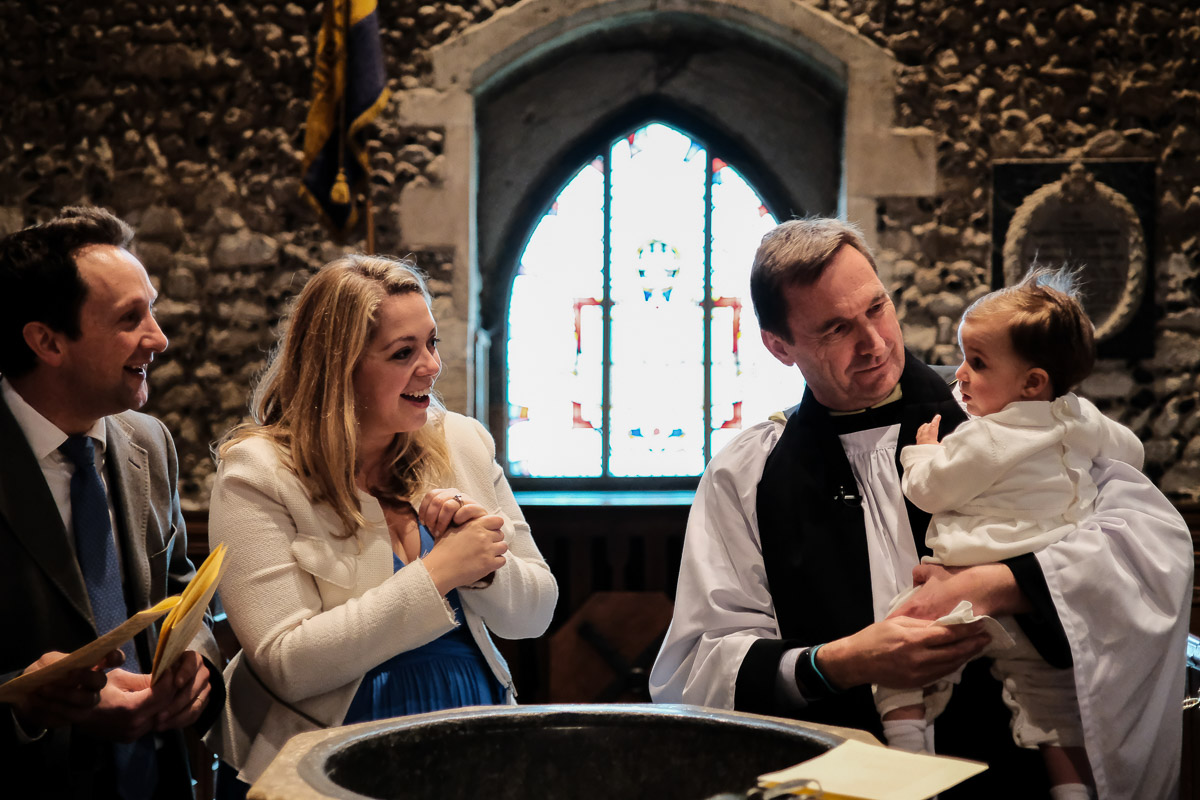Christening photography in Buckinghamshire with Lovely Hector, family and friends.