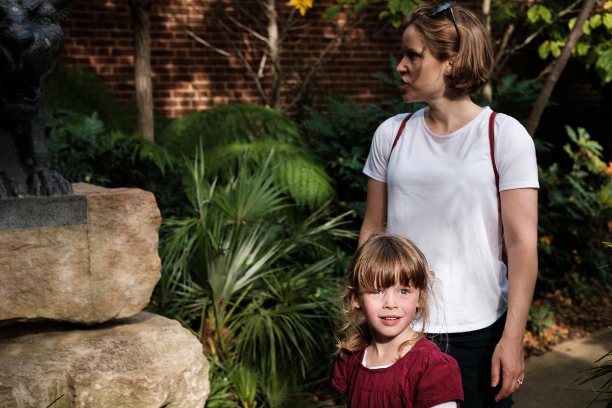 Anna and mum at playground.
