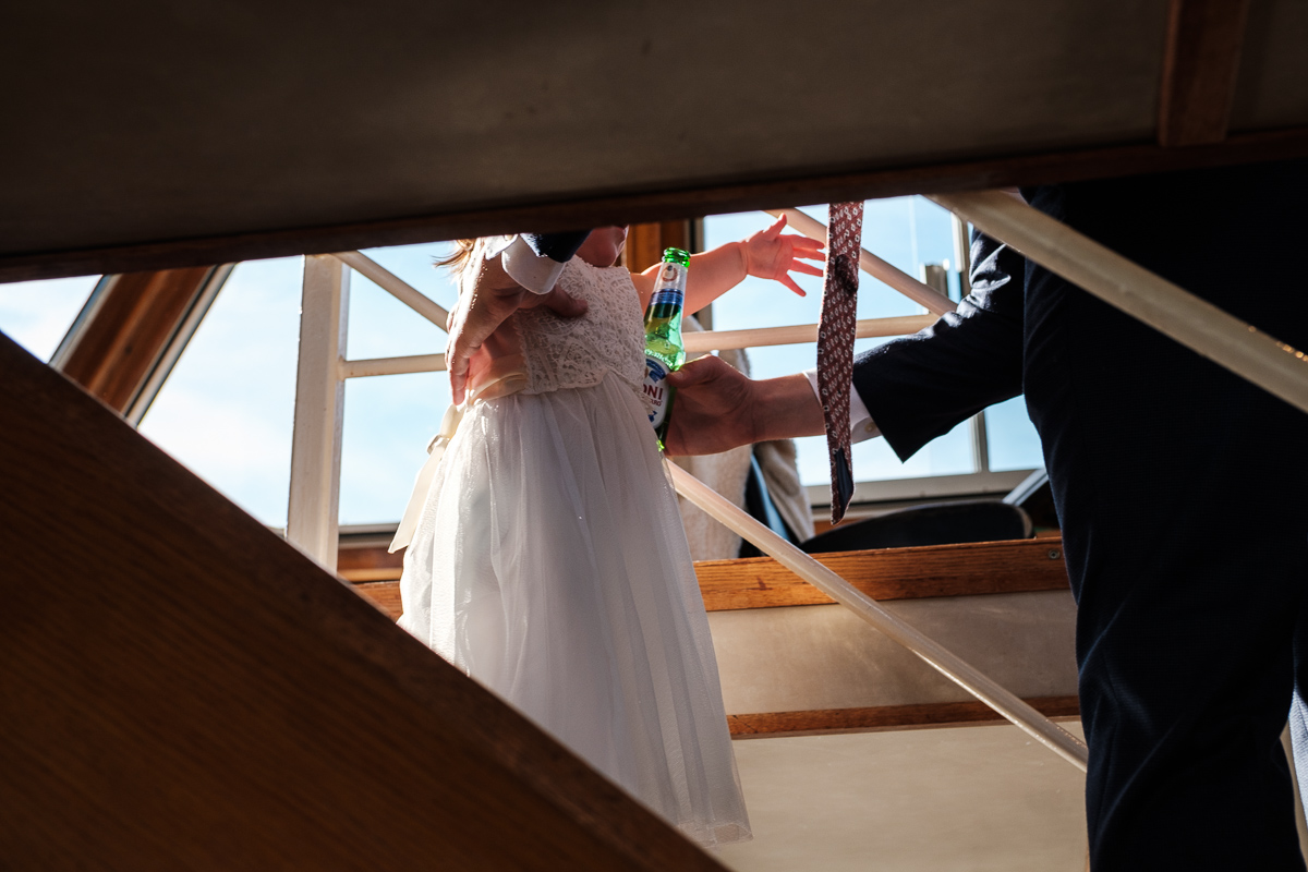 London wedding photography - catching the little ones on the river boat