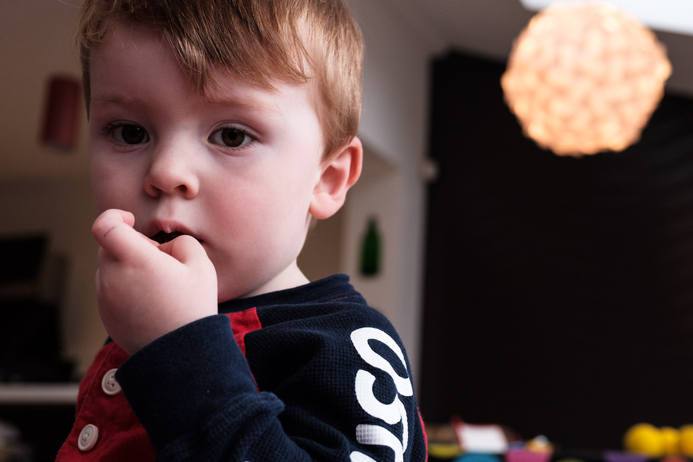 Portrait of boy lost in thought